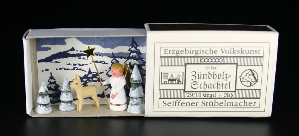 Zündholzschachtel Miniatur Dorfkirche Seiffen Erzgebirge Volkskunst NEU 29//13
